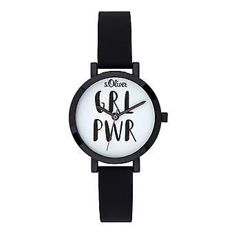s.Oliver ladies watch wrist watch silicone SO-3767-PQ