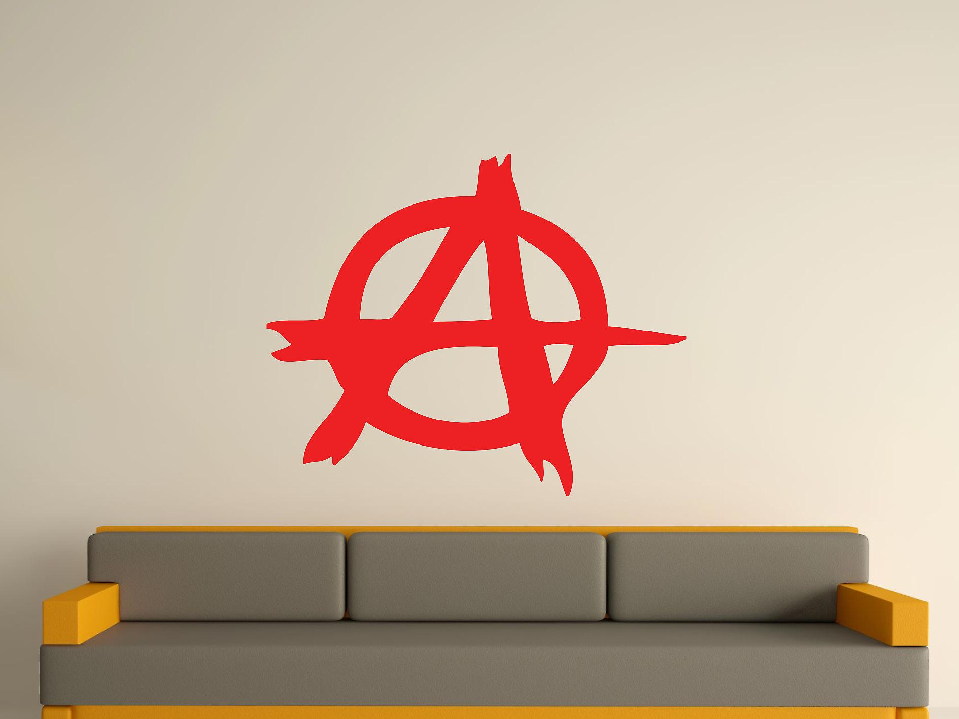 Anarchy Symbol Wall Art Sticker - Tomato Red