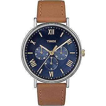 Southview TW2R29100 Timex kwarcowy zegarek dla mężczyzn, brązowy skórzany pasek,