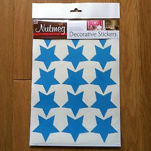 STARS x 15 63mm  DECORATIVE STICKERS