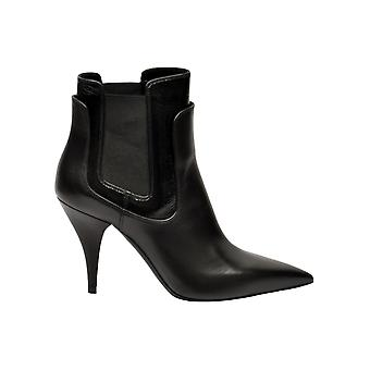 Casadei Black Leather Ankle Boots