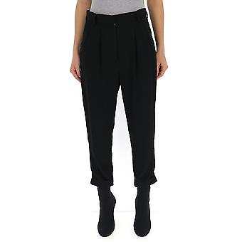 Mm6 Maison Margiela Black Viscose Pants