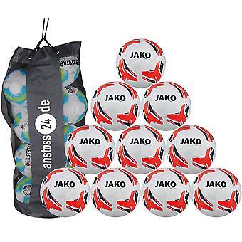 10 x JAKO formation ball match 2.0 inclut sac boule