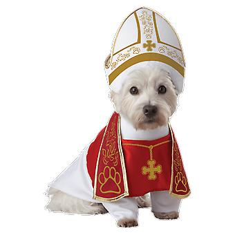 Pet Holy Pope Hound Dog Religious Vicar Priest Party Fancy Dress Costume