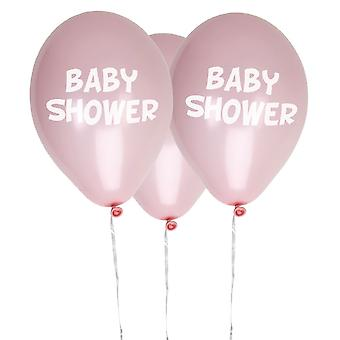 Little Star Pink Baby Shower Balloons 8 Pack