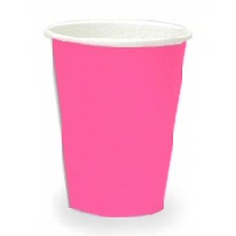 Hot Pink 9oz taza de papel