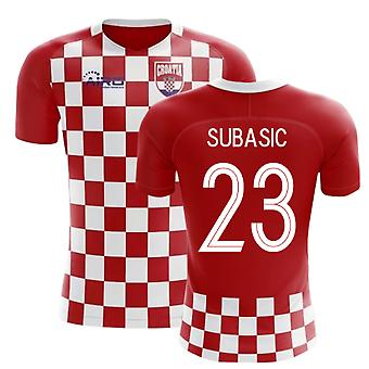 2018-2019 Kroatien Flag Concept Football Shirt (Subasic 23)-Kids