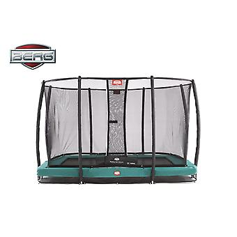 BERG Ultim Champion InGround 330 Trampoline + Safety Net Deluxe Green