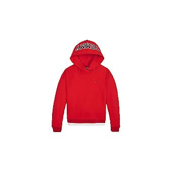 Tommy Hilfiger Girls Tommy Hilfiger Red Colour-blocked Logo Hoody