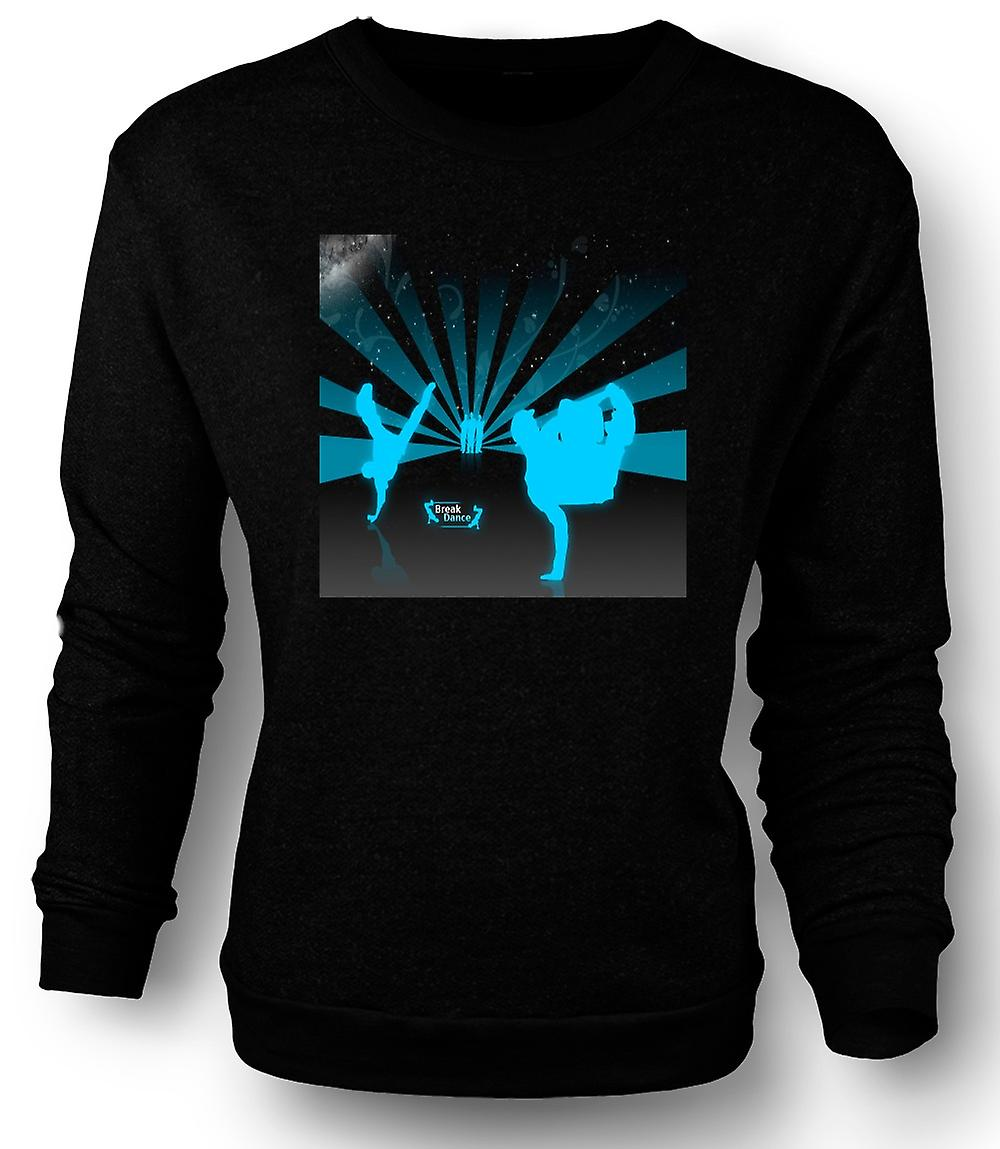 Mens Sweatshirt Breakdance Straße Blue - Design