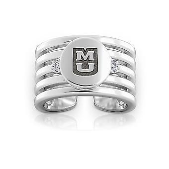 University Of Missouri - Tigers Logo Engraved Multiband Cuff Ring