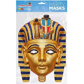 Egyptian Pharaoh Historical Single 2D Card Party Face Mask