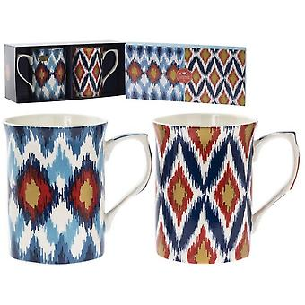 Inca Pattern Mugs (Set Of 2)