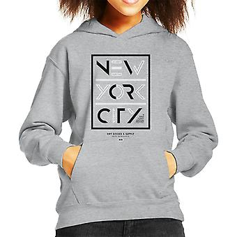 Divide & Conquer New York City Dry Goods Kid's Hooded Sweatshirt