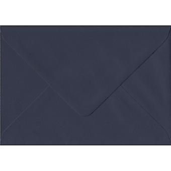 Navy Blue Gummed Greeting Card Coloured Blue Envelopes. 100gsm GF Smith Colorplan Paper. 125mm x 175mm. Banker Style Envelope.