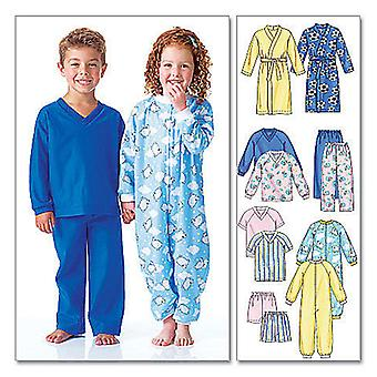 Toddlers' Children's Robe, Belt, Jumpsuit, Top, Shorts And P  Cb 1  2  3 Pattern M6224  Cb0