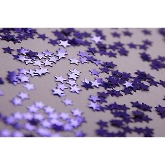 4 Pack of Purple Star Shaped Confetti Table Decoration 14g