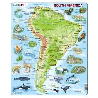 Larsen Puzzle Great South America Physical (Toys , Boardgames , Puzzles)