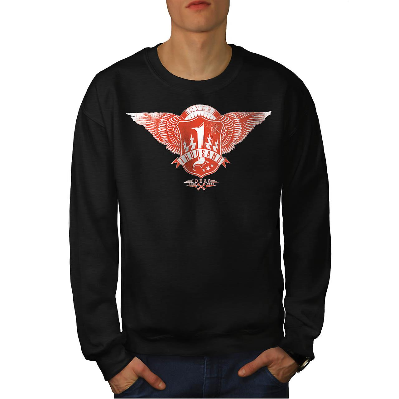 Bad Bone Crew Gang Thousand Idea Men Black Sweatshirt | Wellcoda