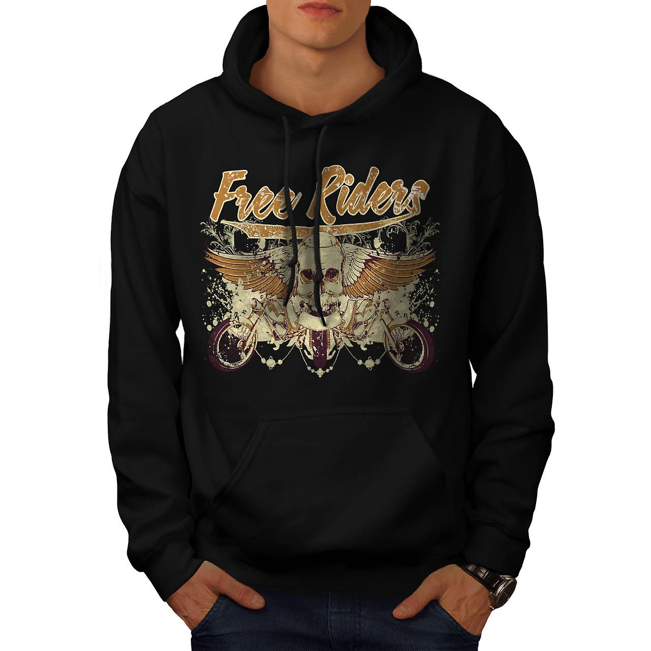 Free Rider Bike Gang Biker Life Men Black Hoodie | Wellcoda