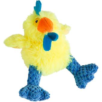 Trusty Pup Hens Plush Toy-Small Yellow & Blue 774063