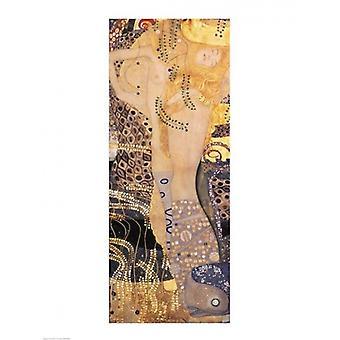 Vann slanger jeg Poster trykk av Gustav Klimt (18 x 24)