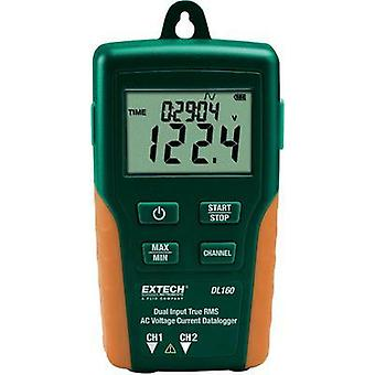 Multi-channel data logger Extech DL160 Unit of measurement Amperage, Voltage 10 up to 600 Vac 10000 up to 200000 mA