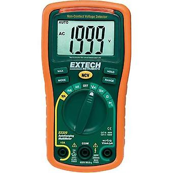 Handheld multimeter digital Extech EX320 Calibrated to: Manufacturer standards CAT III 600 V Display (counts): 2000