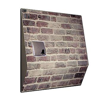 Front door bell with radio and brick pattern V2A stainless steel chime
