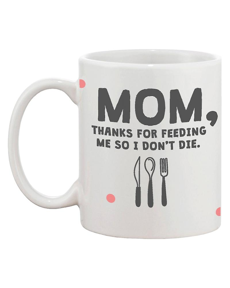 DieMother's 11oz Feeding Cute Mother Mug For Christmas I Momthanks And Coffee Ceramic Day So Me Don't Gift OkuZPXiT