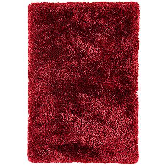 Oriel Gloss Red Shaggy Rug
