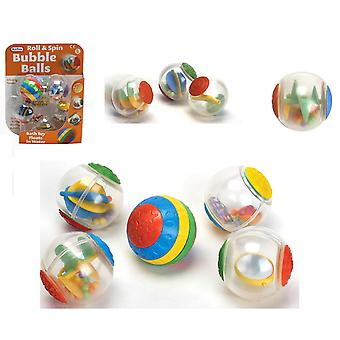 Fun Time Roll & Spin Bubble Balls Bath Toy