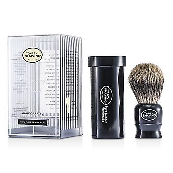 Kunsten å barbering reise Pure Badger - svart 1pc