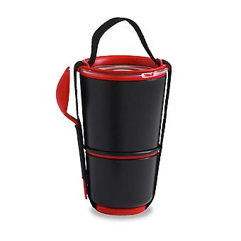 Black & Blum Black and Red Lunch Pot