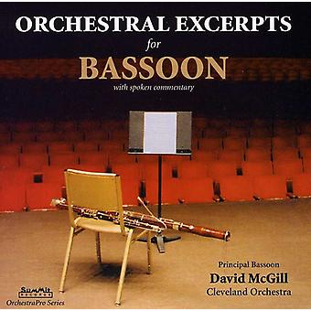 David McGill - Orchestral Excerpts for Bassoon [CD] USA import