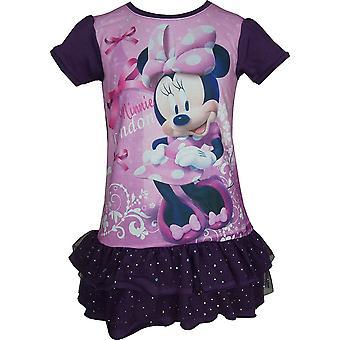 بنات ديزني ميني ماوس الأكمام قصيرة فستان