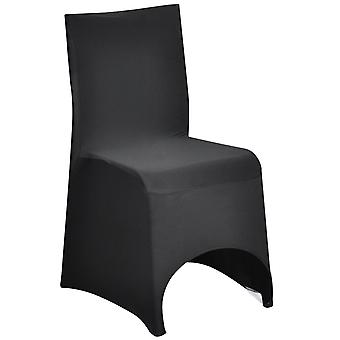 TRIXES Black Spandex Lycra Chair Cover for Banquets Wedding Reception Parties