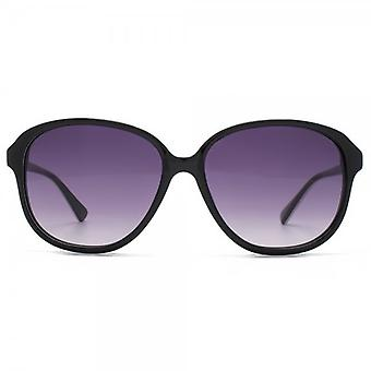 Connexion français premium Retro Glam Sunglasses In Black