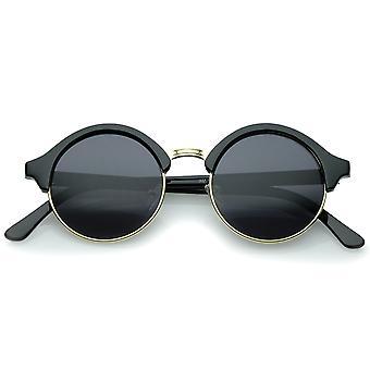 Klassisk semi-uindfattede Metal næse bro P3 runde solbriller 47 mm