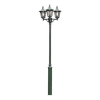 Konstsmide Virgo Verdi Driveway 3 Lantern Outdoor Pole Light