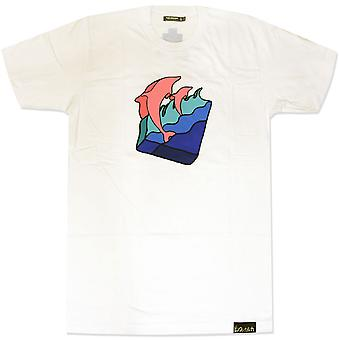 Pink Dolphin Waves T-Shirt White