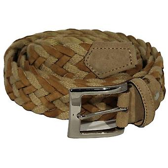 40 Colori Rope and Suede Leather Belt - Light Brown