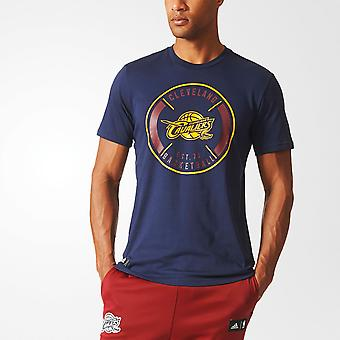 ADIDAS cleveland cavaliers basketball climalite bomull t-skjorte [marinen]