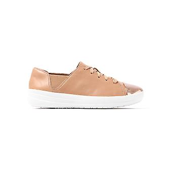 FitFlop Women's F Sporty Mirror Toe Trainers - Nude