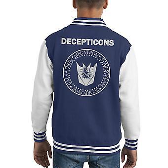 Varsity Jacket transformadores Decepticons Ramones Logo infantil