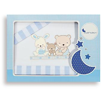 Interbaby Model Love Blue triptych minicot