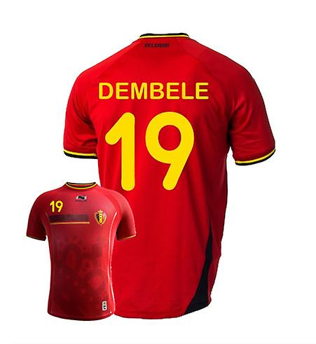 2014-15 Belgium World Cup Home Shirt (Dembele 19)