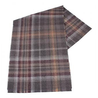Fraas Checked Wool Scarf - Brown/Burgundy/White