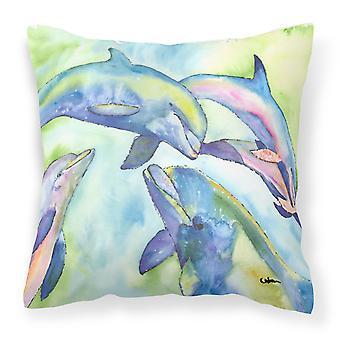Carolines Treasures  8548PW1414 Dolphin Decorative   Canvas Fabric Pillow