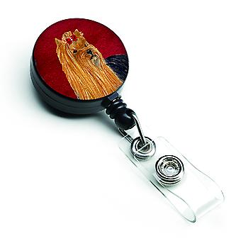 Carolines Treasures  SS6041BR Yorkie Retractable Badge Reel or ID Holder with Cl